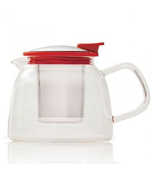 Ceainic de sticla Suki Red Teapot
