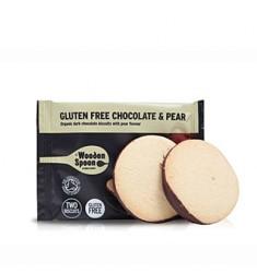 Biscuiti organici cu pere si glazura de ciocolata Wooden Spoon
