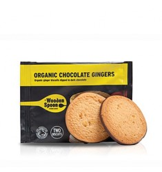 Biscuiti organici cu ghimbir si glazura de ciocolata Wooden Spoon
