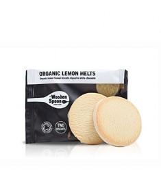 Biscuiti organici cu lamaie si glazura de ciocolata alba Wooden Spoon