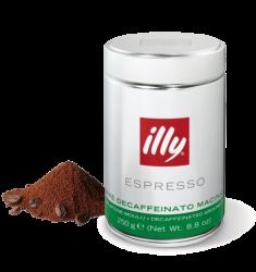 Illy Espresso Decaf 250g cafea macinata decofeinizata